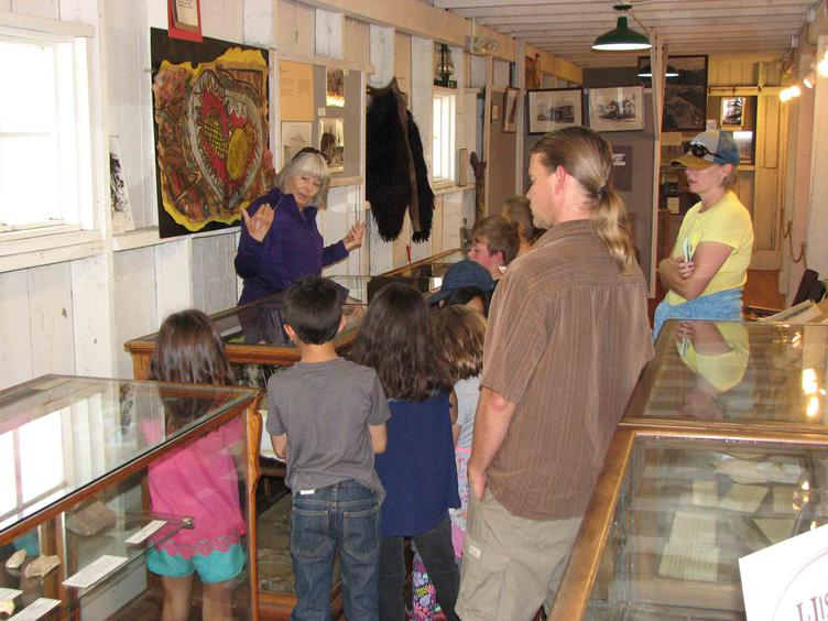 Kids inside the museum